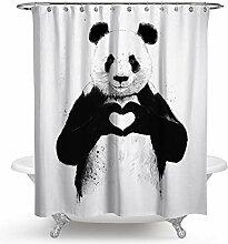 Coniea Badewannenvorhang Vintage Tier Duschvorhang