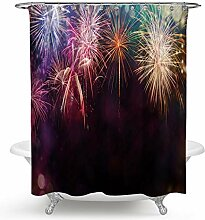 Coniea Badezimmer Vorhang 3D Feuerwerk