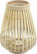 Connox Collection - Bambus Windlicht, 26 cm, natur