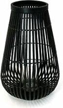 Connox Collection - Bambus Windlicht 45 cm, schwarz