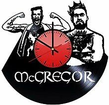 Conor McGregor Wanduhr aus Vinyl, originelle