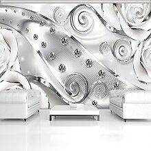 Consalnet Fototapete 3D Blumen Diamanten, Motiv,