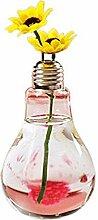 Consater 6 Stück Vase Glühbirne Form Transparent