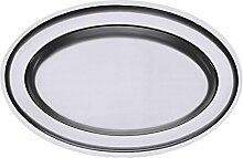 Contacto Edelstahl Bratenplatte oval 56,5 x 38 cm