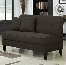 Contemporary Sofa Loveseat - This Upholstered Couch Is Made of Wood and Linen Material - Perfect Seat for Your Bedroom, Living Room - Free Toss Pillows - 1 Year Warranty! (Chocolate Linen) by Mercury Row