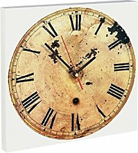Contento 866273 Wanduhr, 28 x 28 cm, antike Uhr