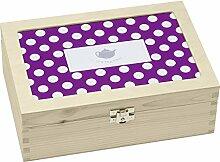 Contento 866371 Teebox Holz viole