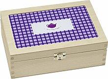 Contento 866372 Teebox Holz viole