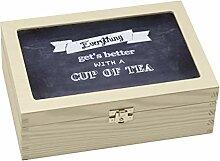 Contento 866381 Teebox Holz schwarz