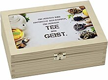 Contento 866384 Teebox Holz weiß