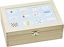 Contento 866385 Teebox Holz blau
