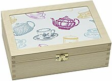 Contento 866386 Teebox Holz weiß