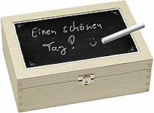 Contento 866393 Teebox Holz schwarz