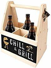 Contento Beer Caddy für 6 Flaschen, CHILL &