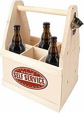 Contento Bierflachenträger mit Flaschenöffner,