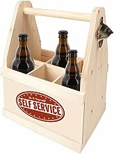 Contento Bierflaschenträger mit Flaschenöffner,