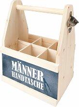 Contento Flaschenkorb Männer Handtasche, (1