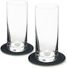 Contento Longdrinkglas (2-tlg), Totenkopf, 400 ml,