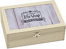 Contento Teebox, Holz, beige, 23.5x16.5x9 cm