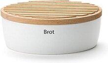 Continenta Brotkasten, Keramik, Holz, (1-tlg) 30 cm