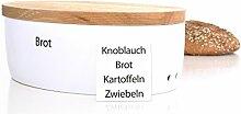 Continenta Brottopf oval mit Holzdeckel, gefräste