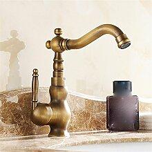 Continental antike alle Kupfer heißen und kalten Becken Sitzbank des Beckens von Nostalgie für die einzelnen Bohrung des Mixers zu drehen, tippen, treiberdiskette Basisstation/Low)