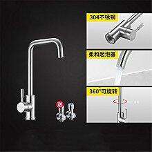 Continental Badewanne Armatur 304 Edelstahl Küche Wasserhahn im Waschbecken mit warmen und kalten Dusche zu drehen.,Hahn4.
