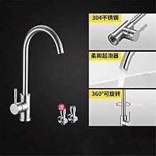 Continental Badewanne Armatur 304 Edelstahl Küche Wasserhahn im Waschbecken mit warmen und kalten Dusche zu drehen.,Hahn3.