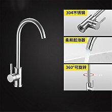 Continental Badewanne Armatur 304 Edelstahl Küche Wasserhahn im Waschbecken mit warmen und kalten Dusche zu drehen.,Hahn1.
