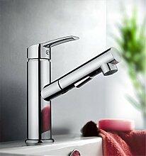 Continental Becken einzelne Bohrung herausziehen Heiß/Kaltwasser.Die Badezimmer Waschbecken Armaturen,Waschtisch Armatur