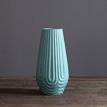 Continental Blau Keramik Vasen Geschenke Herbst Muster Retro Beunruhigt Kunst Und Handwerk Kreativ Zu Hause Dekoration,A