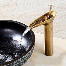 Continental Cu alle antikes Glas Waschbecken Sitzbank Becken unter Waschbecken retro Einloch heiße und kalte Dusche, antikes Glas hoch)