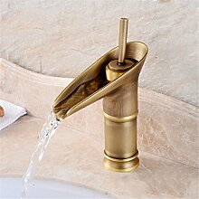 Continental Cu alle antikes Glas Waschbecken Sitzbank Becken unter Waschbecken retro Einloch heiße und kalte Dusche, antikes Glas niedrig)