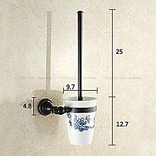 Continental Cu alle Schwarzen wc Schüssel Regal Kit, Badezimmer Keramik Tassen antike Badewanne WC-Bürste WC-Bürste 49 WC-Schüssel
