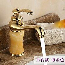 Continental Cu alle waschtischmischer Sitzbank Becken unter Waschbecken Waschtischen replica antique Wasserhahn warmes und kaltes,Wong Yuk-Gold