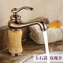 Continental Cu alle waschtischmischer Sitzbank Becken unter Waschbecken Waschtischen replica antique Wasserhahn warmes und kaltes,Wong Yuk Rose Gold