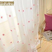 """Continental Drucken bestickte Schlafzimmer Wohnzimmer Fenster Screening , 56W x 100""""""""L"""