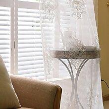 """Continental drucken EmbroideredBedroom Wohnzimmer Fenster Screening , 2*(50W x 96""""""""L)"""