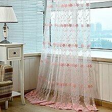 """Continental drucken EmbroideredBedroom Wohnzimmer Fenster Screening , 56W x 96""""""""L,"""