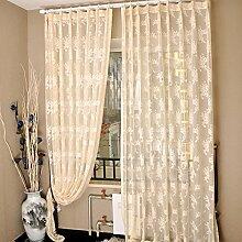 """Continental drucken EmbroideredBedroom Wohnzimmer Licht transparente Fenster Screening , 42W x 96""""""""L"""