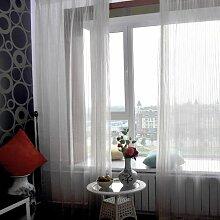 """Continental drucken EmbroideredBedroom Wohnzimmer Licht transparente Fenster Screening , 56W x 100""""""""L"""