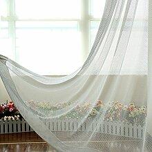 """Continental drucken EmbroideredBedroom Wohnzimmer Licht transparente Fenster Screening , 50""""""""WX84""""""""L"""