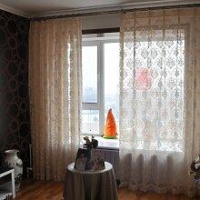 """Continental Drucken Schlafzimmer Wohnzimmer Licht transparente Fenster Screening , 42""""""""W x 84""""""""L"""