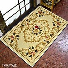 Continental Fußmatten/Tür-teppich/Fußabtreter/Living Room,Schlafzimmer,Anti-rutsch-matte/Gepolsterte Fußauflage Im Foyer-H 80x150cm(31x59inch)