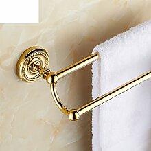Continental Gold doppelten Handtuchhalter/Handtuchhalter/Handtuchhalter/Carving/Bad-Accessoires