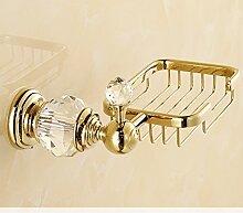 Continental Gold-Seife Netzwerk/Alle Kupfer Seifenschale Rack/Kristall-Bad-Accessoires-A