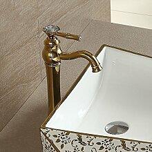 Continental goldene Becken Armaturen am Waschtisch ArmaturEine Bohrung für kalte und warme goldene Wasserhähne.Mit voller Kupfer Bohrung,Golden Dragon