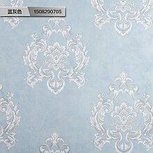 Continental idyllische Wohnzimmer Wand Papier sofa Hintergrund wand Papiere in Europa 3d wallpaper Schlafzimmer,warmen Blau und Grau