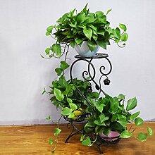 Continental Iron Flower Rack Multi-Layer-Blumentopf Rack Leiter Blumenregal Drei Schichten Regal Blume Regal Balkon Bonsai Frame ( Farbe : #1 )