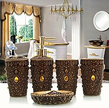 Continental kreative Vanity Kit Harz 5 Bad Armaturen Badezimmer Waschtisch Schale Verbrauchsmaterialki